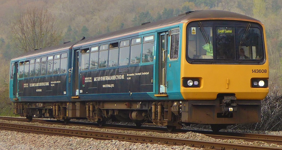 143608 on the route between Treherbert & Cardiff Central in April 2019. ©Train Photos