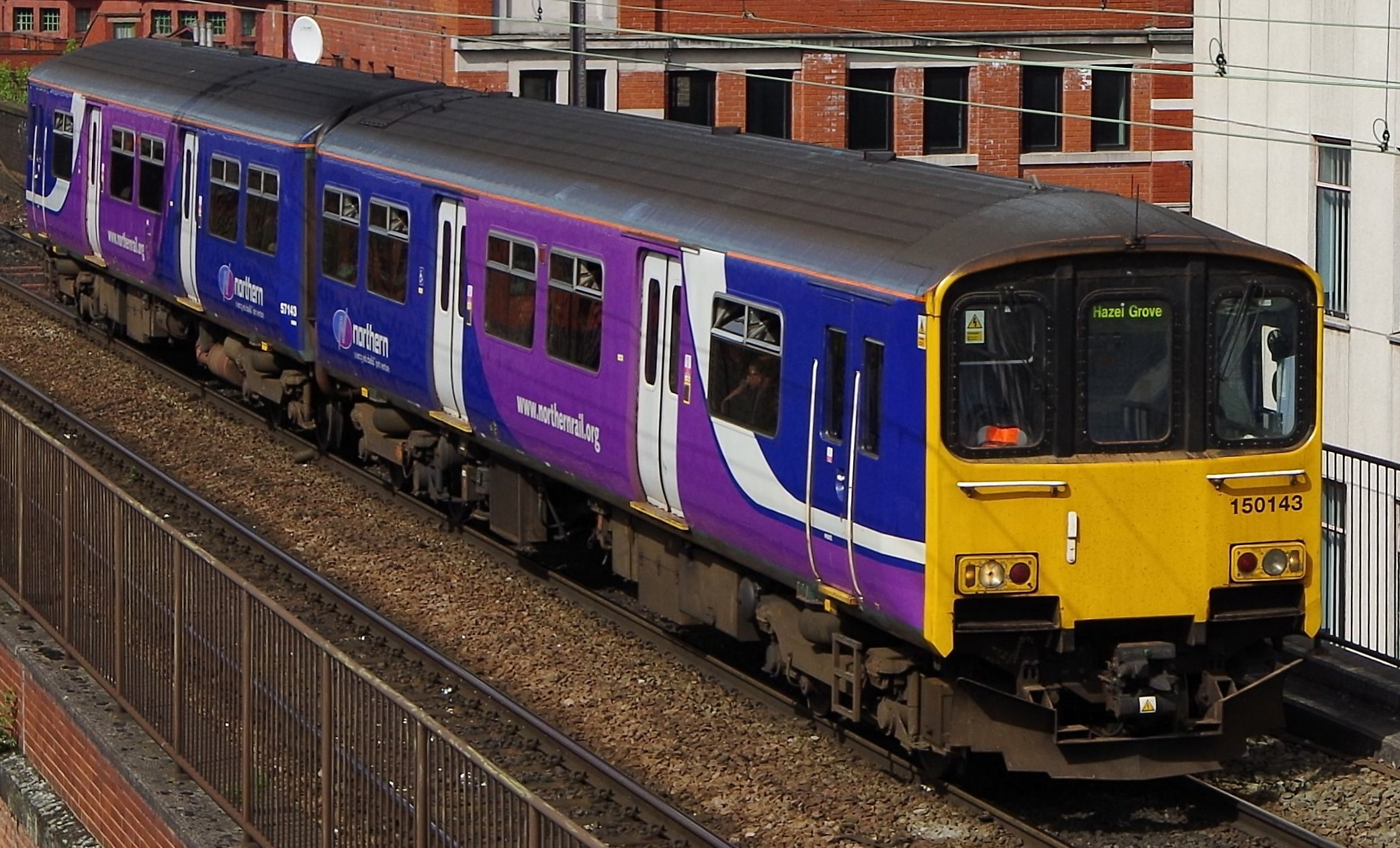 150143 near Manchester Piccadilly in May 2014. ©Clagmaster