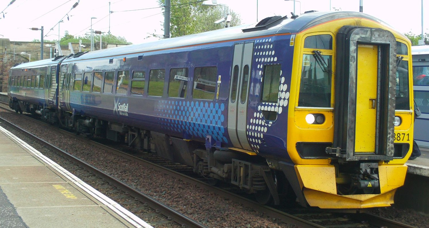 158871 at Musselburgh in May 2015. ©ScotRail02