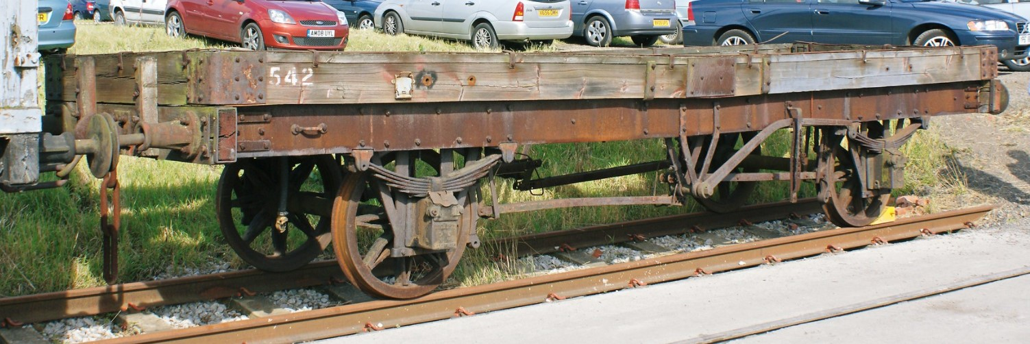 No.542 MR 1 plank wagon at Barrow Hill in August 2008. ©Hugh Llewelyn