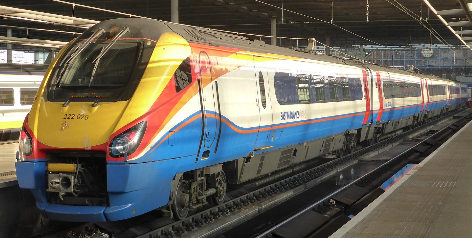 222020 at London St Pancras International in March 2014. ©Train Photos