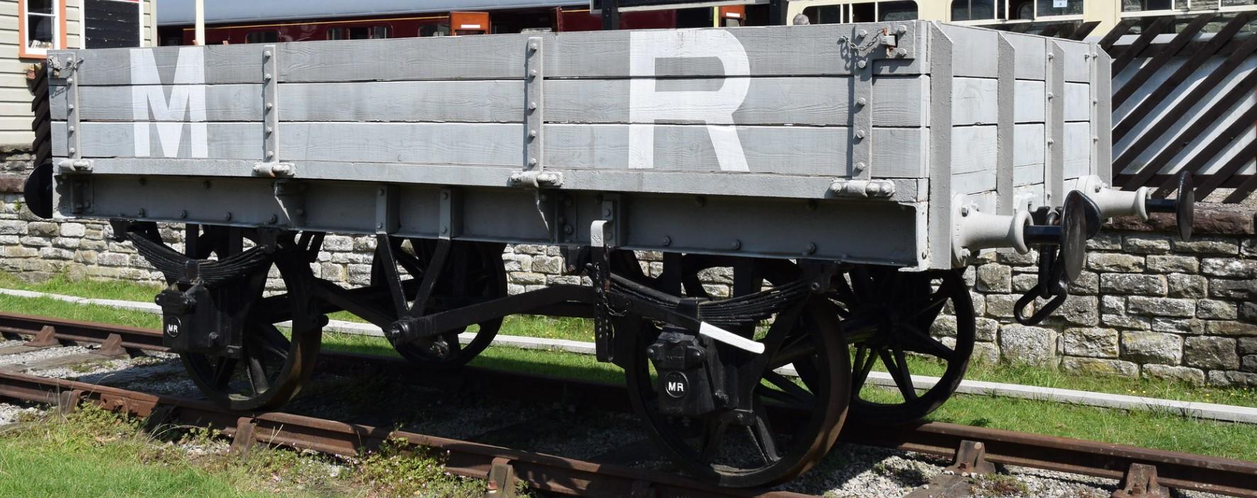 3 plank wagon at the Dean Forest Railway in August 2019. ©Hugh Llewelyn