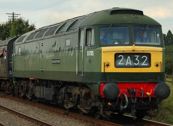 D1705 on the Great Central Railway in September 2007. (This loco was converted to a Class 47 in the 1960s). ©Phil Sangwell