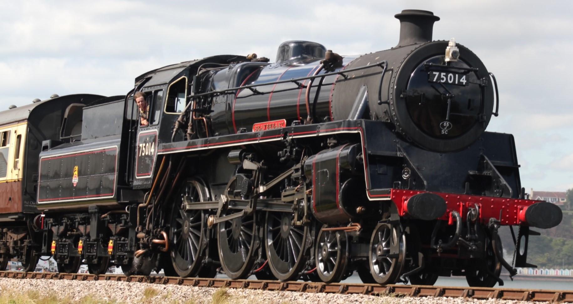 75014 'Braveheart' at Goodrington on the Dartmouth Steam Railway in June 2019. ©Geof Sheppard
