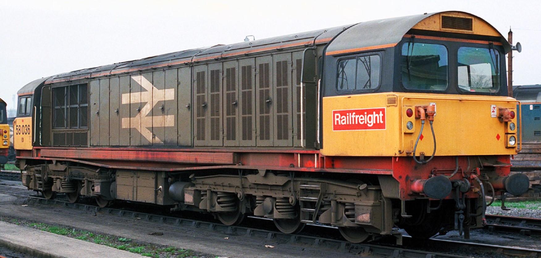 58036 at Saltley in April 1987. ©Steve Jones