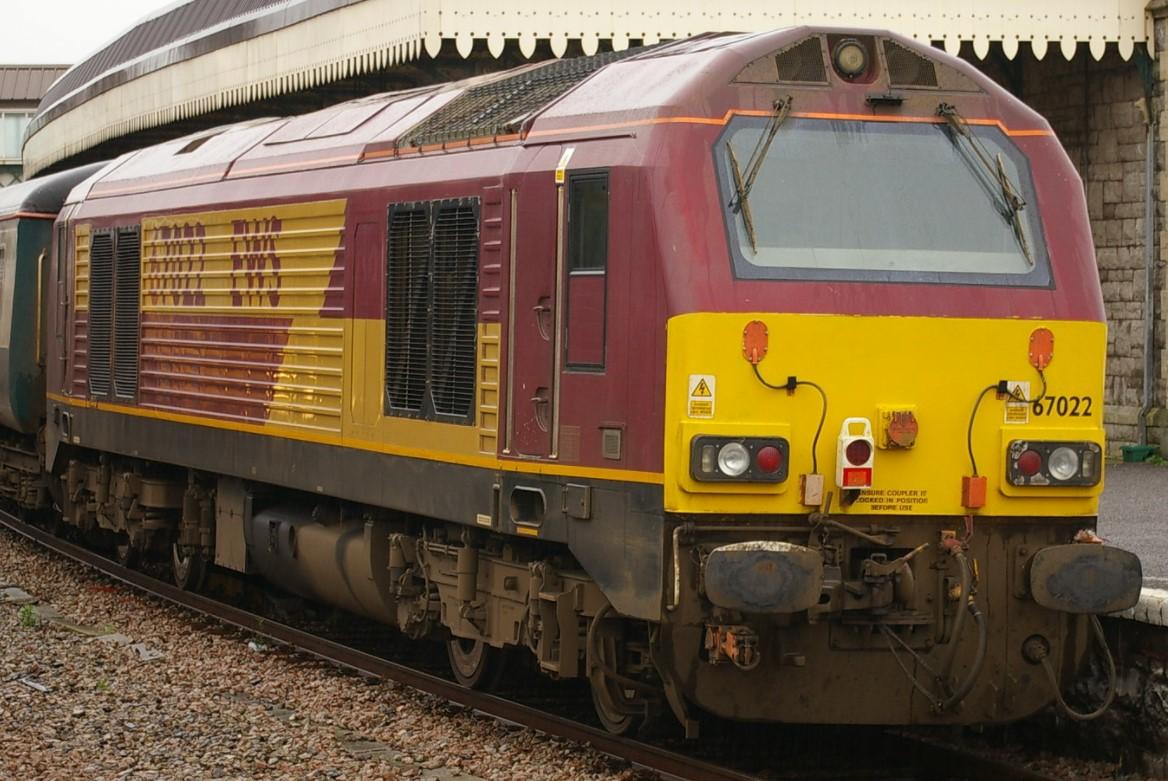 67022 at Weston Super Mare in November 2009. ©Clagmaster