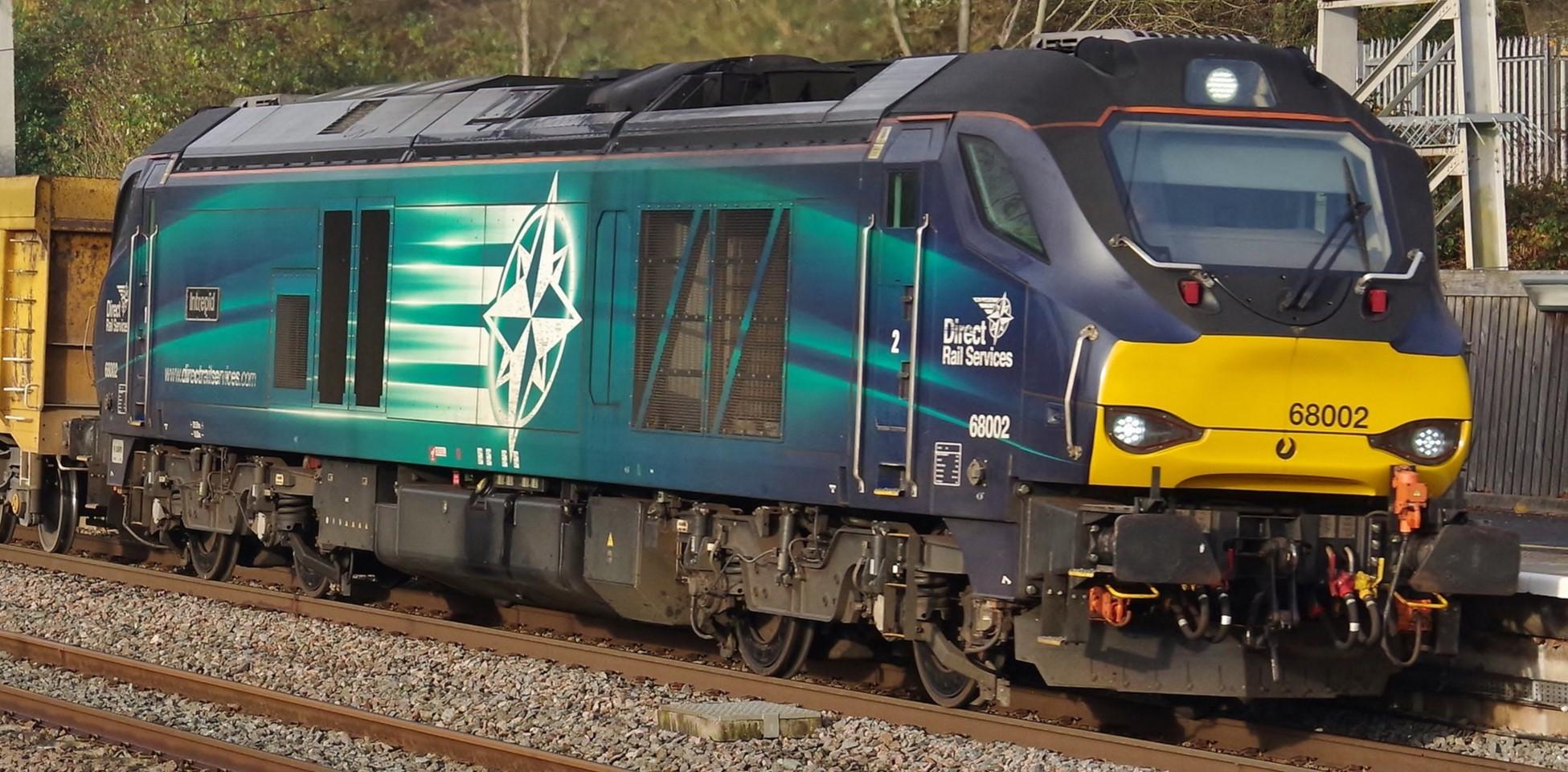 68002 at Tamworth in November 2019. ©Clagmaster