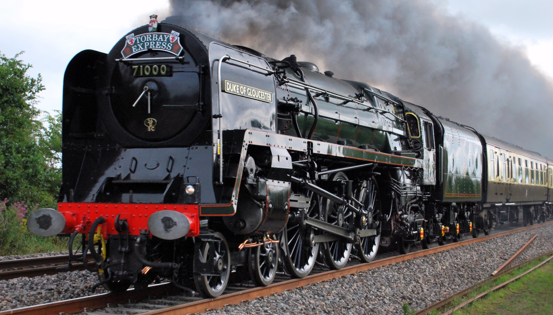 71000 'Duke of Gloucester' in Somerset in July 2010. ©Hugh Llewelyn