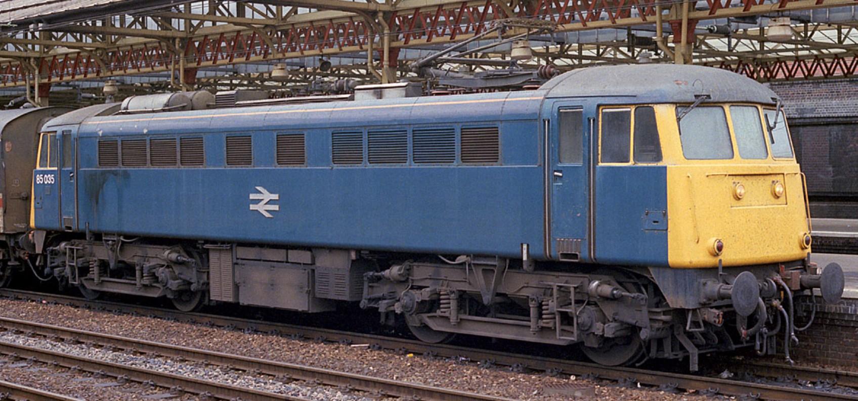 85035 at Crewe in May 1987. ©Steve Jones