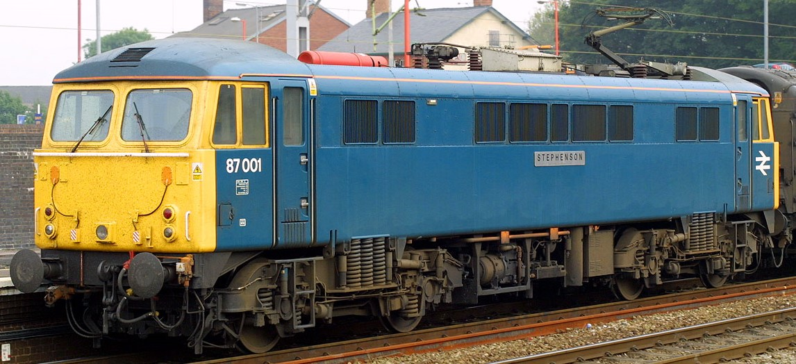 87001 'Stephenson' at Stafford in August 2003. ©Steve Jones