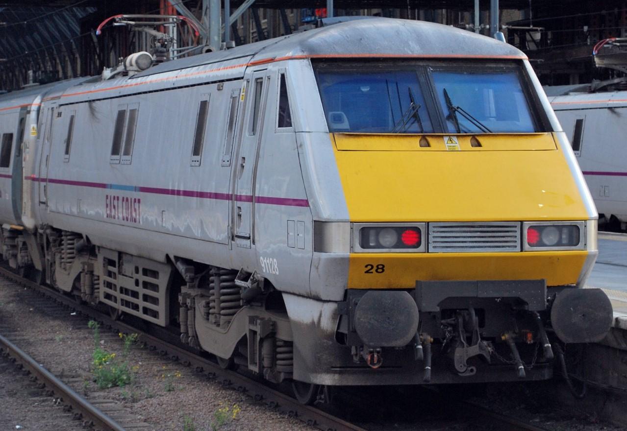 91128 at London Kings Cross in September 2012. ©Hugh Llewelyn