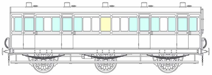 6-wheel 4 compartment lavatory