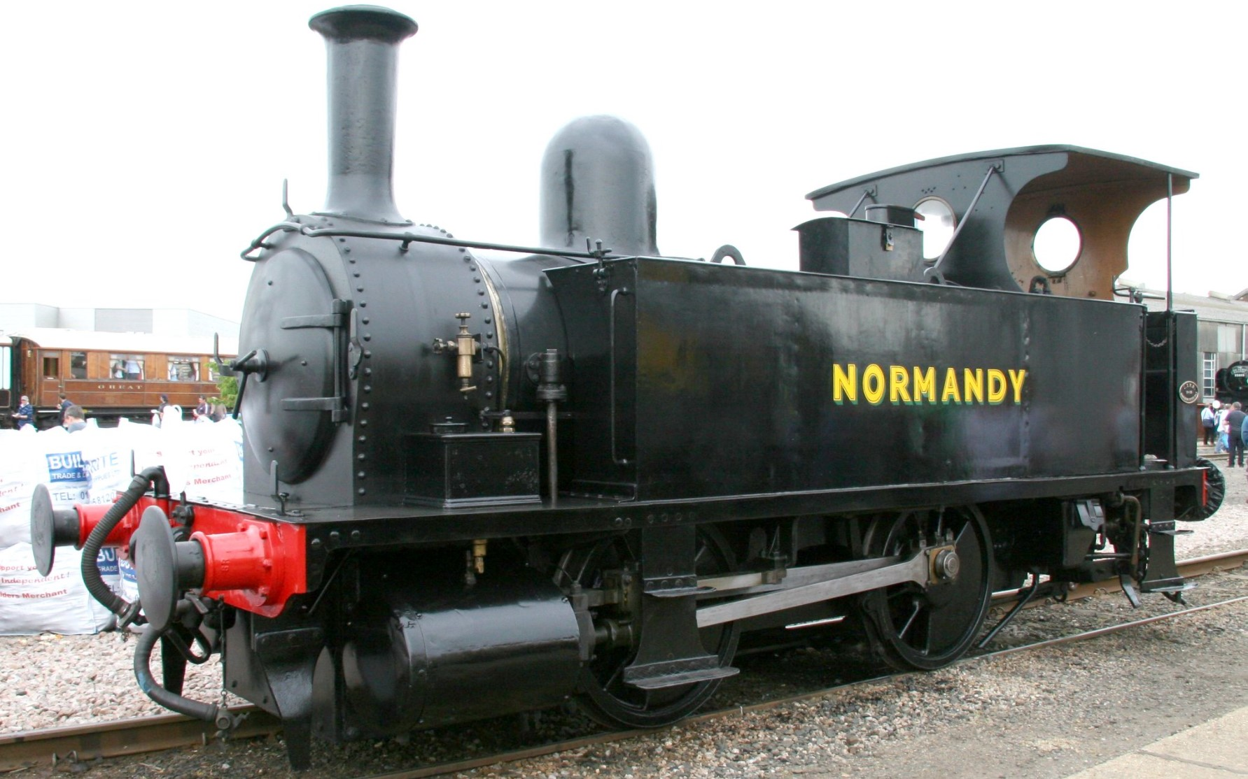 """No. 96 """"Normandy"""" at Eastleigh Works in May 2009. ©KitMasterBloke"""