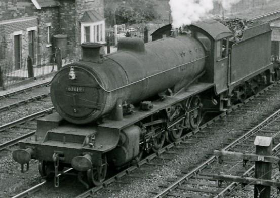 63619 hauls a train near Barnetby in April 1961. © Ben Brooksbank