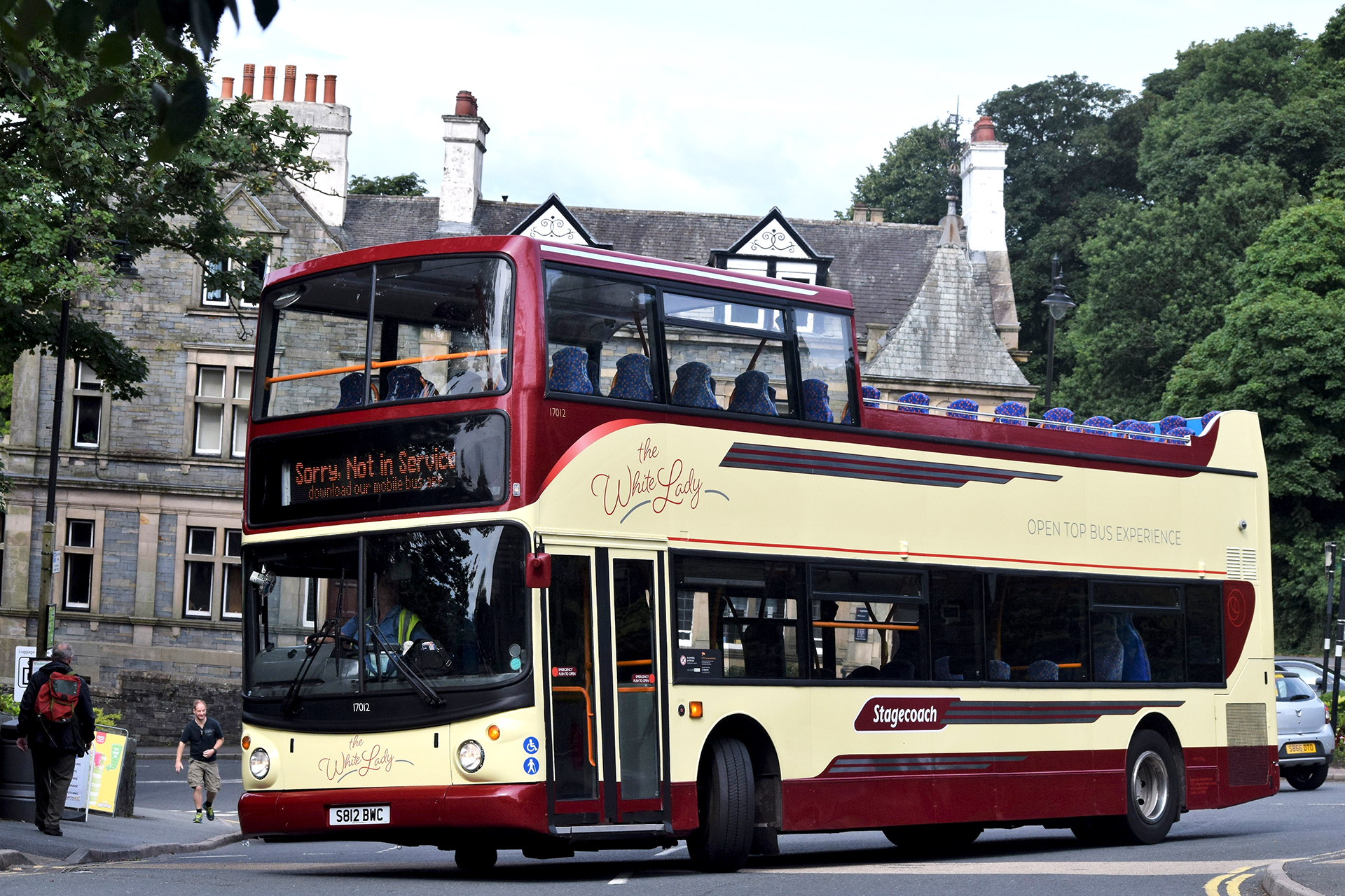 """""""The White Lady"""" ALX400 Dennis Trident at Windermere in August 2017. © Luke's Transport Photos"""