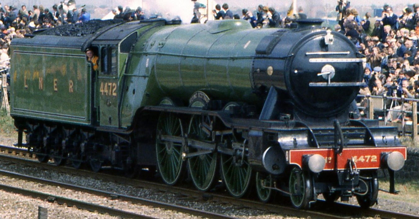 """4472 """"Flying Scotsman"""" at Rainhill in 1980. © Barry Lewis"""