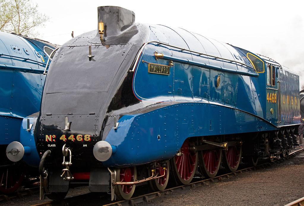 """4468 """"Mallard"""" at Barrowhill in April 2012. © Tony Hisgett"""