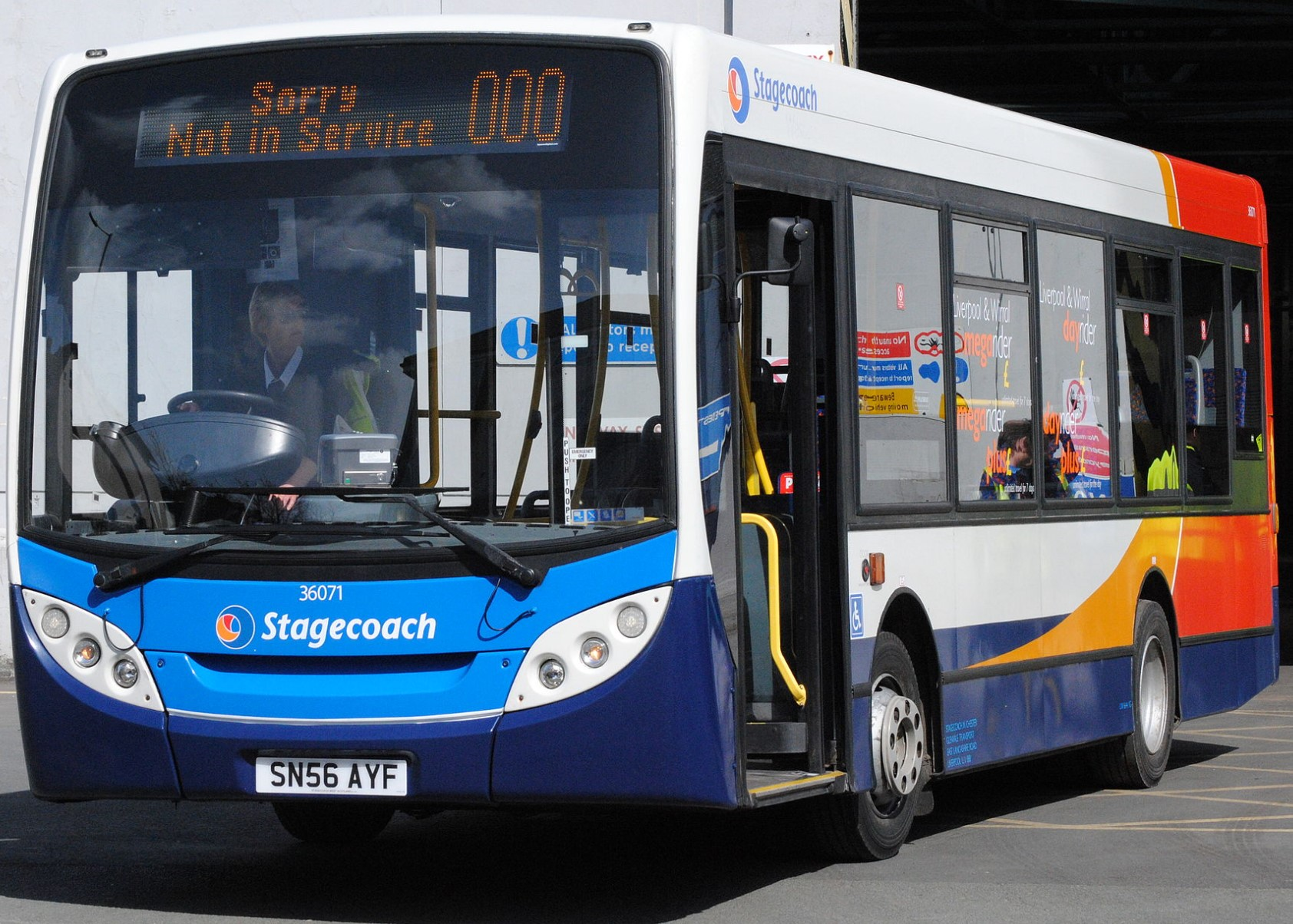 SN56 AYF 36071 at Wirral Rock Ferry Depot in April 2013. ©Alan Sansbury