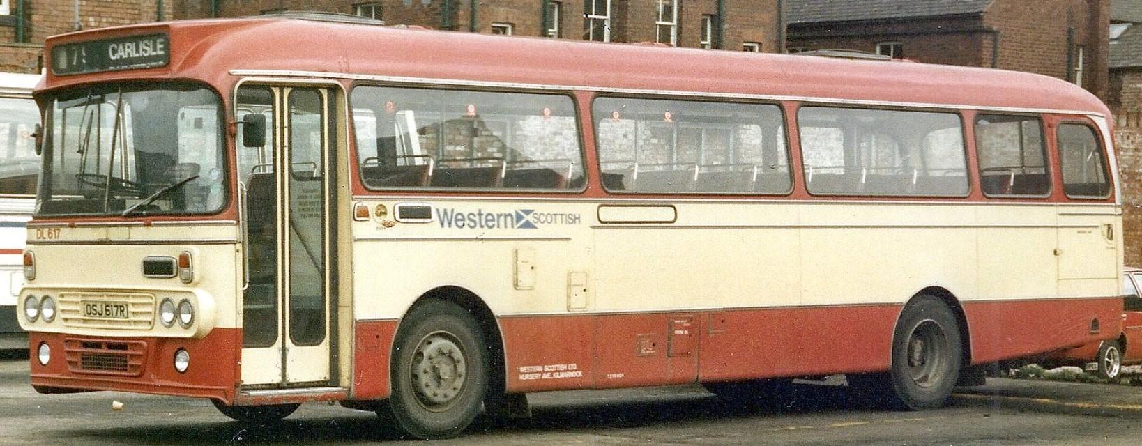 DL617 OSJ 617R in Carlisle in the 1980s. ©Eddie Leslie