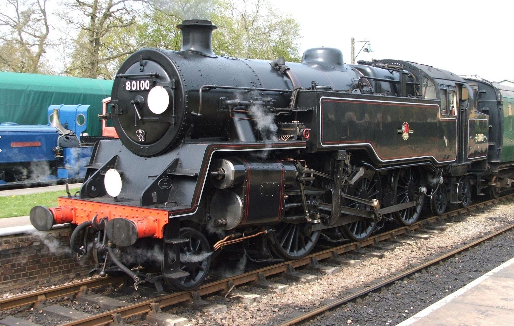 80100 at Horsted Keynes on the Bluebell Railway in April 2009. ©Ninja Scaley
