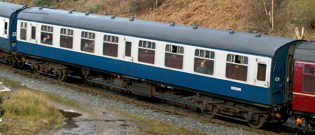 M25385 Standard Open coach at Bury on the East Lancashire Railway in January 2009. ©David Ingham