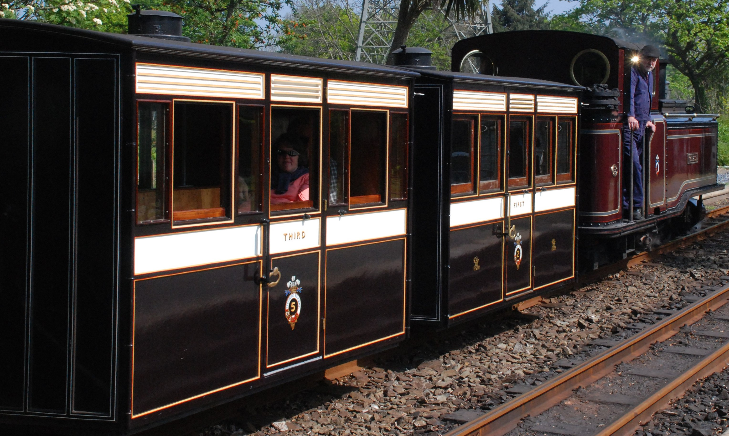 Bug Box coaches No. 2 & No. 5 at the Ffestiniog Railway in May 2007. ©Andrew Riley