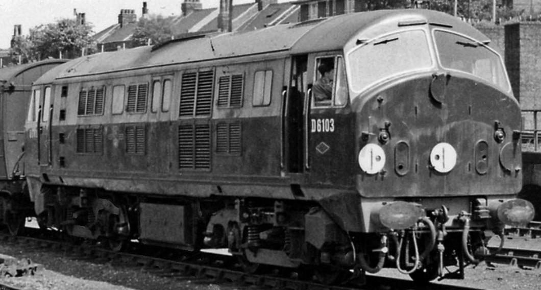 D6103 at Harringay West in June 1959. ©Ben Brooksbank