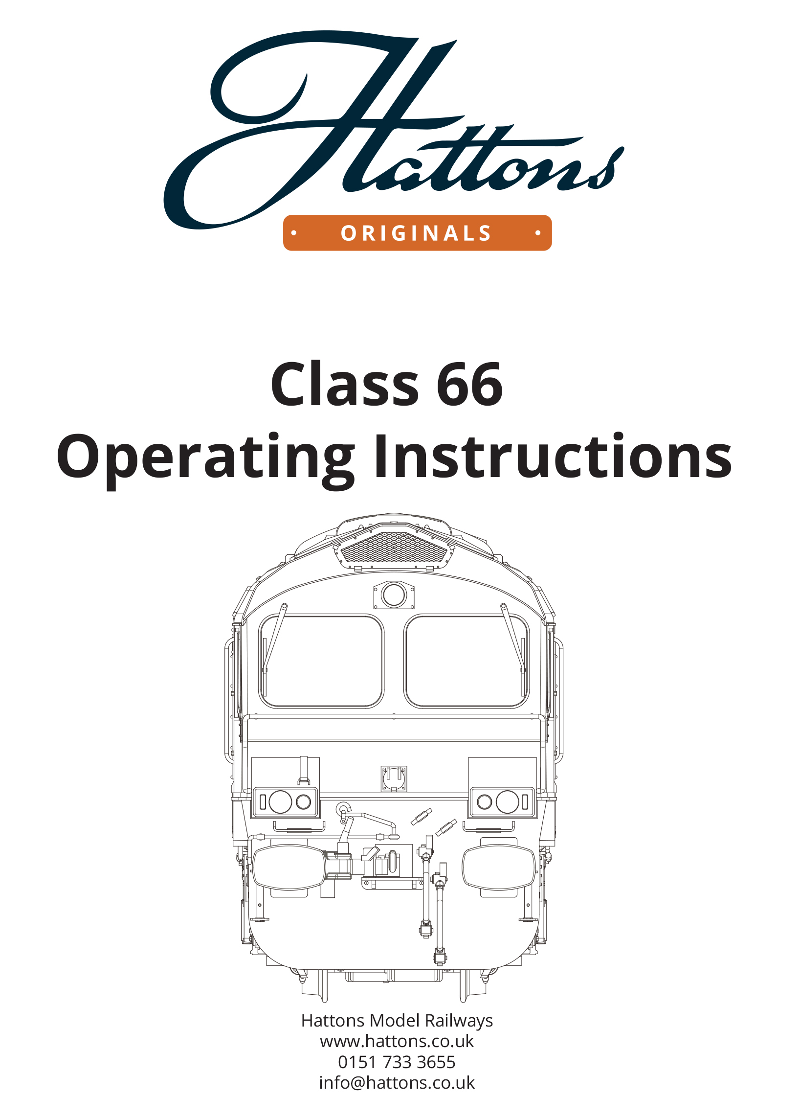 class 66 instruction booklet cover 1