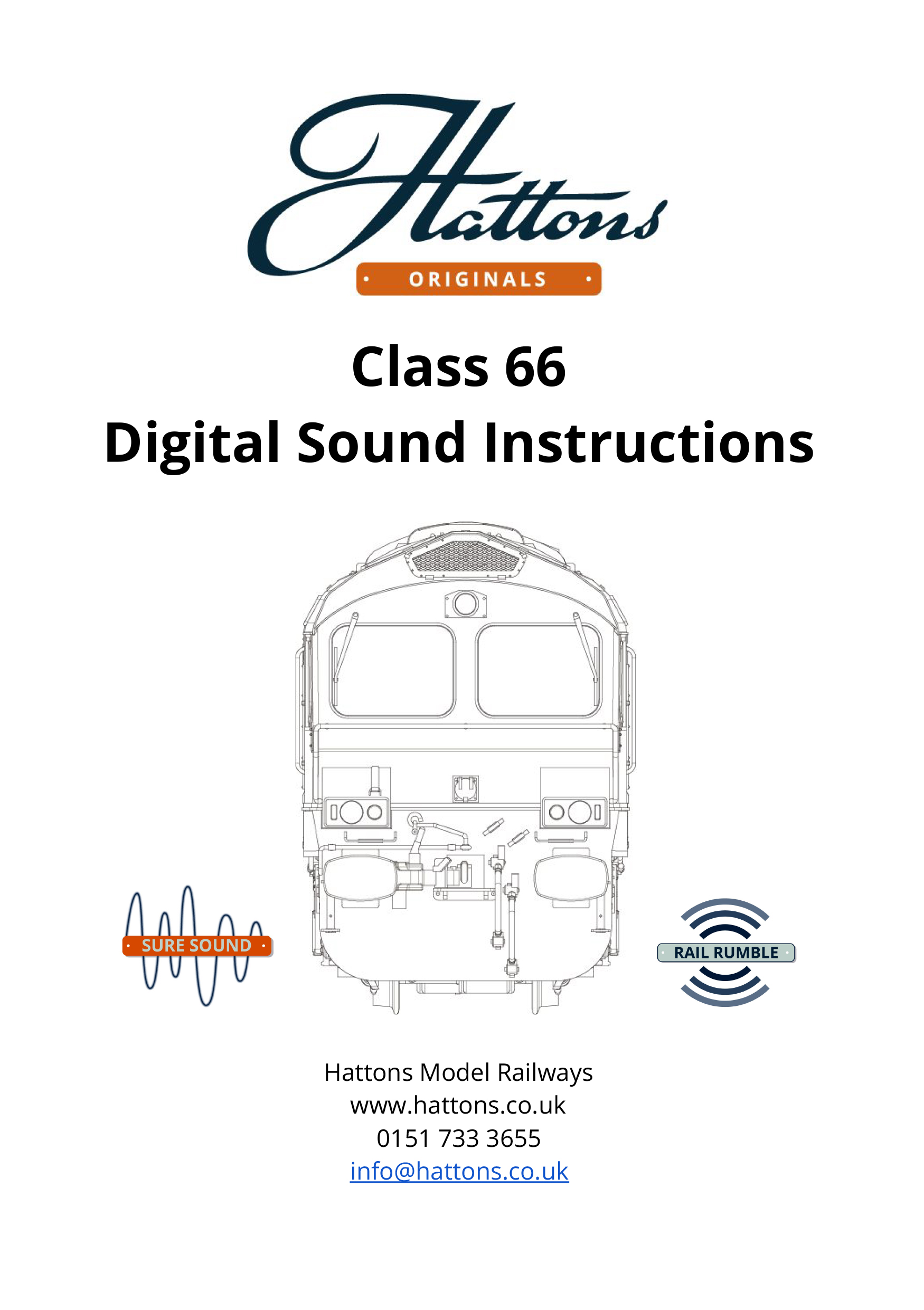 class 66 instruction booklet cover 2