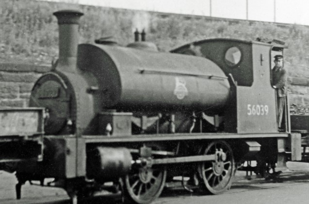 56039 at Whiteinch, Glasgow in September 1958. ©RuthAS
