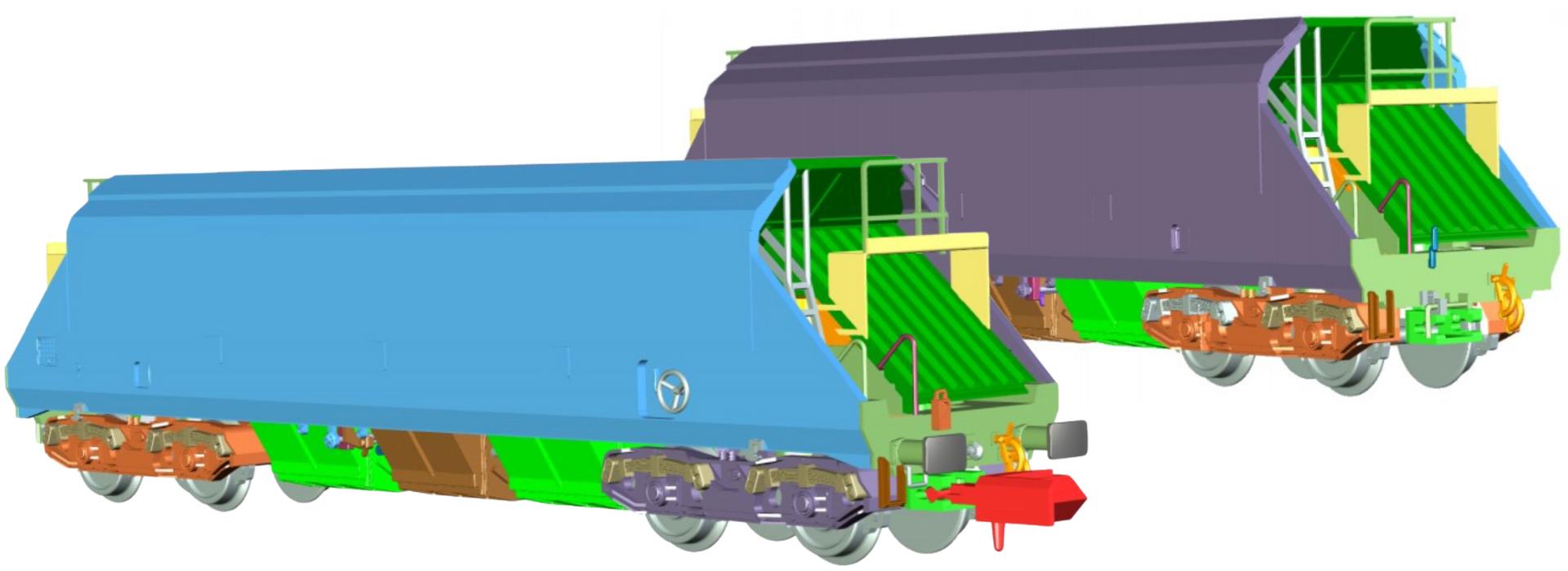Dapol N JHA Wagons in Yeoman Livery
