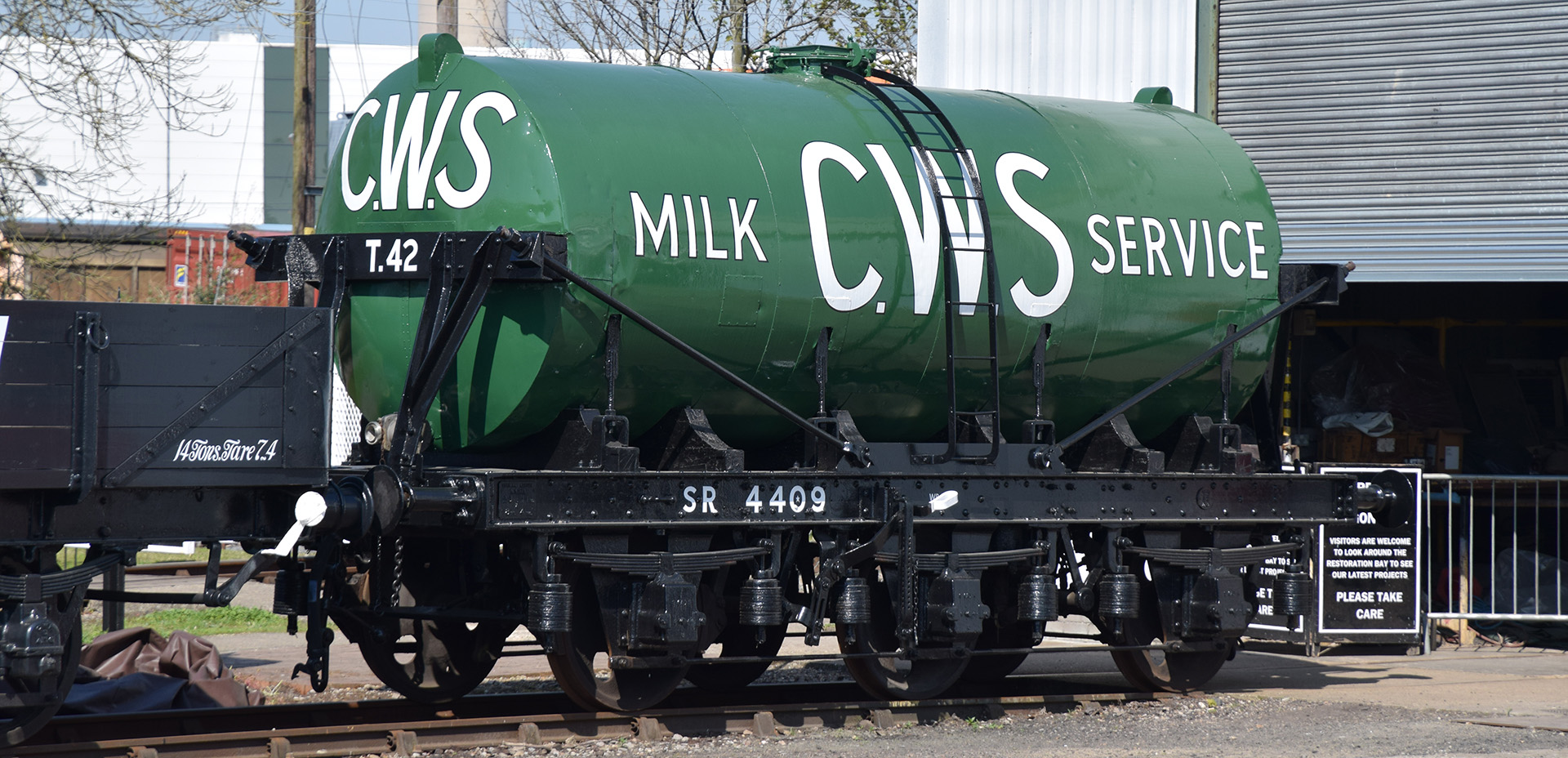 SR Diagram 3152 milk tank at Didcot Railway Centre in April 2019. © Hugh Llewelyn