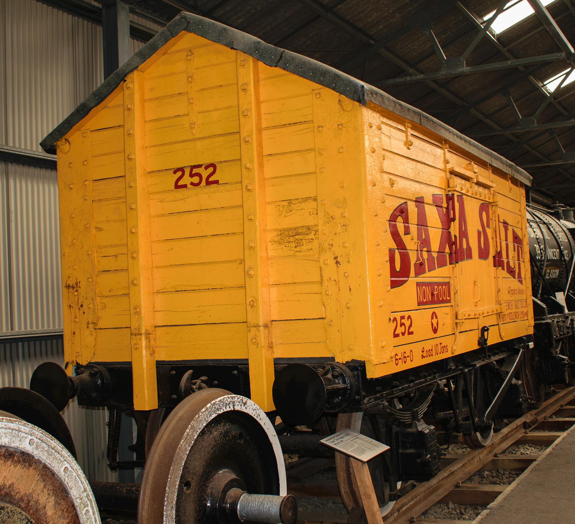 No. 252 Saxa Salt van at the Bo'ness & Kinneil Railway in May 2018. ©Dan Adkins
