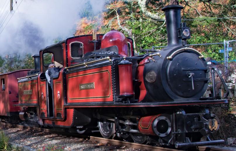 """""""David Lloyd George"""" on the Ffestiniog Railway in October 2017. © ARG_Flickr"""