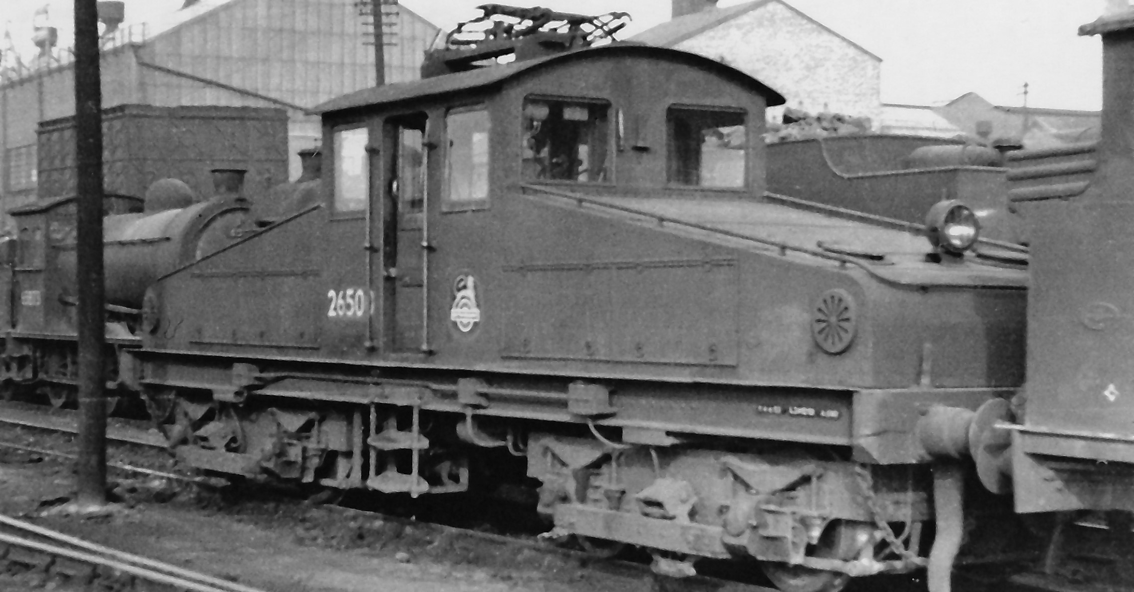 NER ES-1 26500 at Heaton Locomotive Depot in June 1954. ©Ben Brooksbank