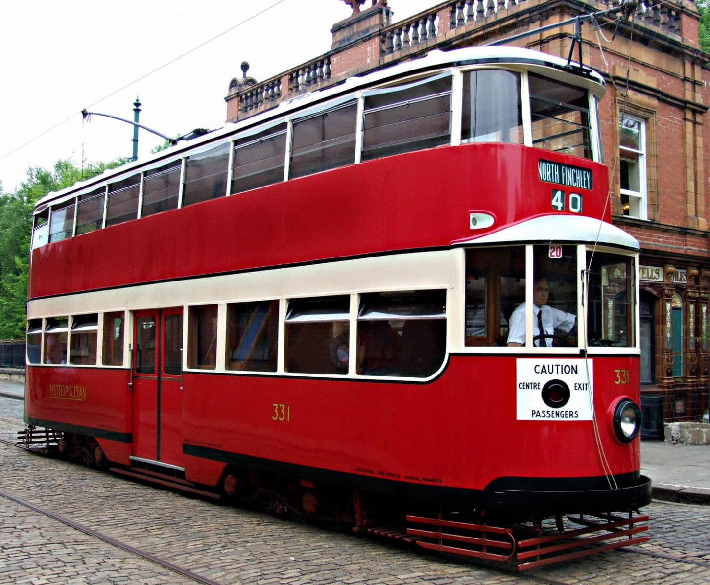 331 at Crich Tramway Museum in July 2009. ©Voogd075