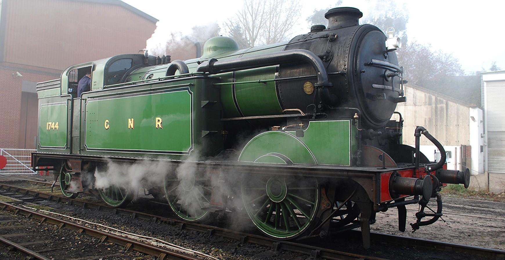 1744 at Bridgnorth on the Severn Valley Railway in March 2012. ©Hugh Llewelyn