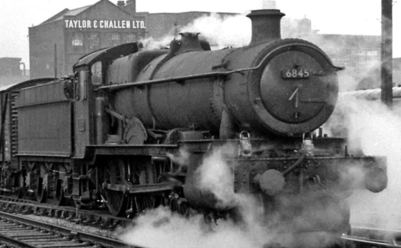 6845 at Birmingham Snow Hill in August 1964. ©Ben Brooksbank