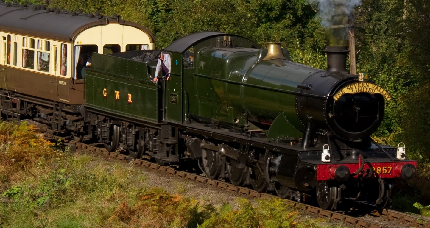 2857 at Highley on the Severn Valley Railway in October 2012. ©Tony Hisgett