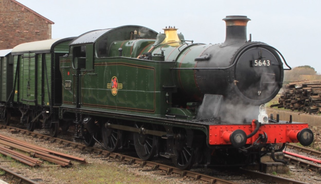 5643 at Dunster on the West Somerset Railway in March 2015. ©Geof Sheppard