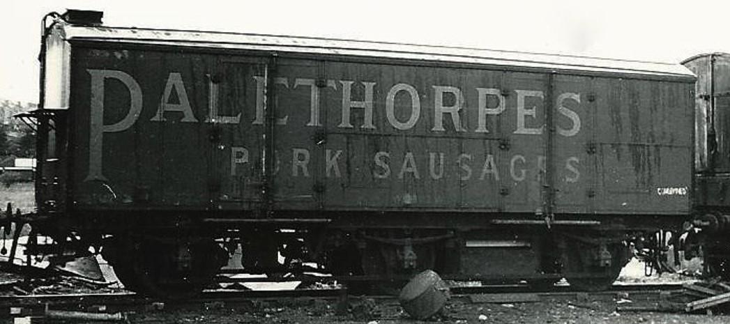 Palethorpe's branded meat van at Barry Scrapyard, Wales in May 1967. ©Hugh Llewelyn