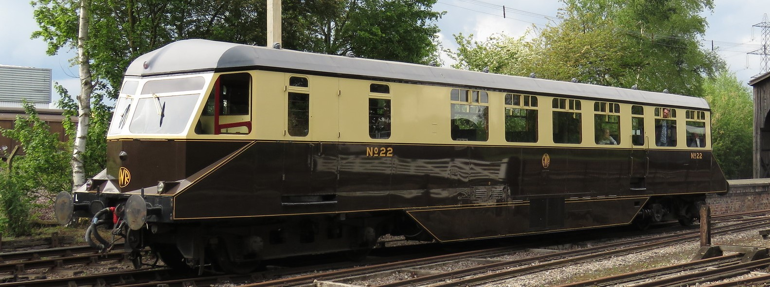 GWR Railcar No.22 at The Didcot Railway Centre in May 2019. © Justin Foulger