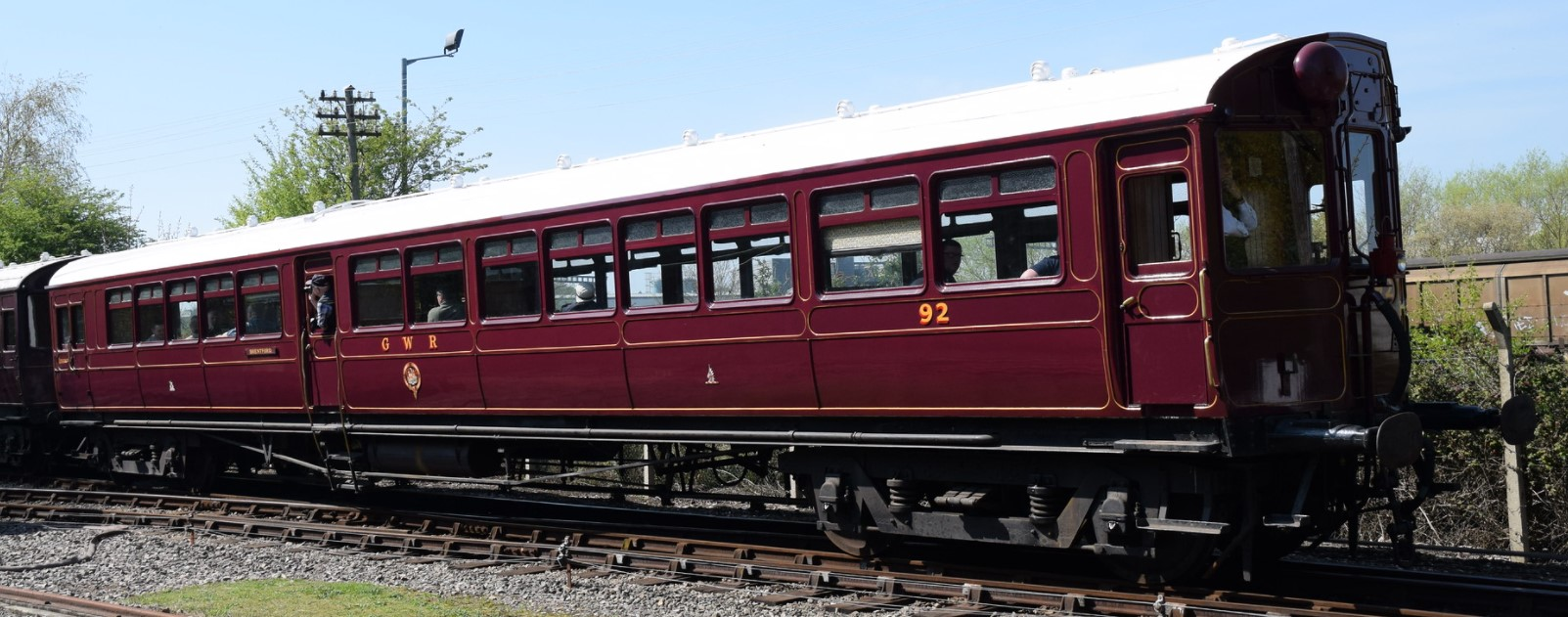 Diagram U autocoach 92 at the Didcot Railway Centre in April 2019. ©Hugh Llewelyn