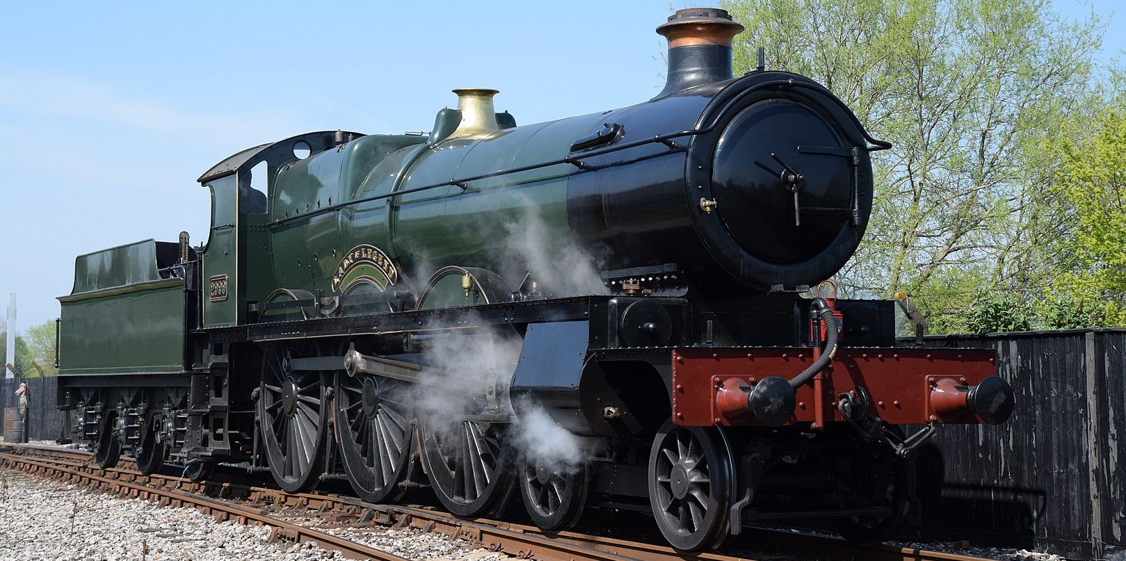 2999 'Lady of Legend' - replica locomotive at the Didcot Railway Centre in April 2019. ©Hugh Llewelyn