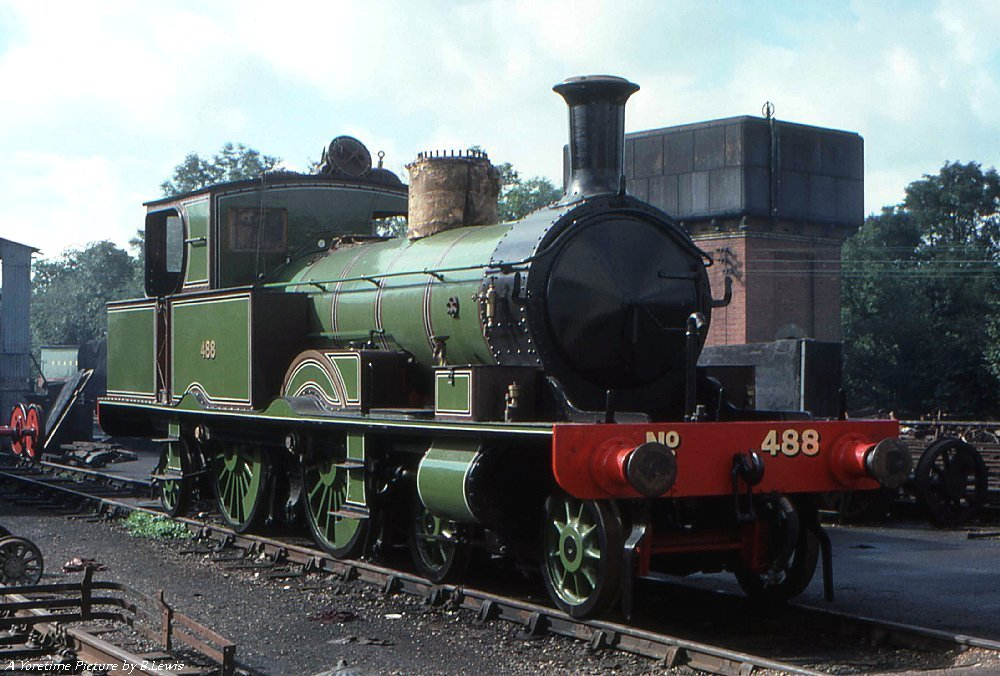 No. 488 at the Bluebell Railway in the 1970s. © Barry Lewis