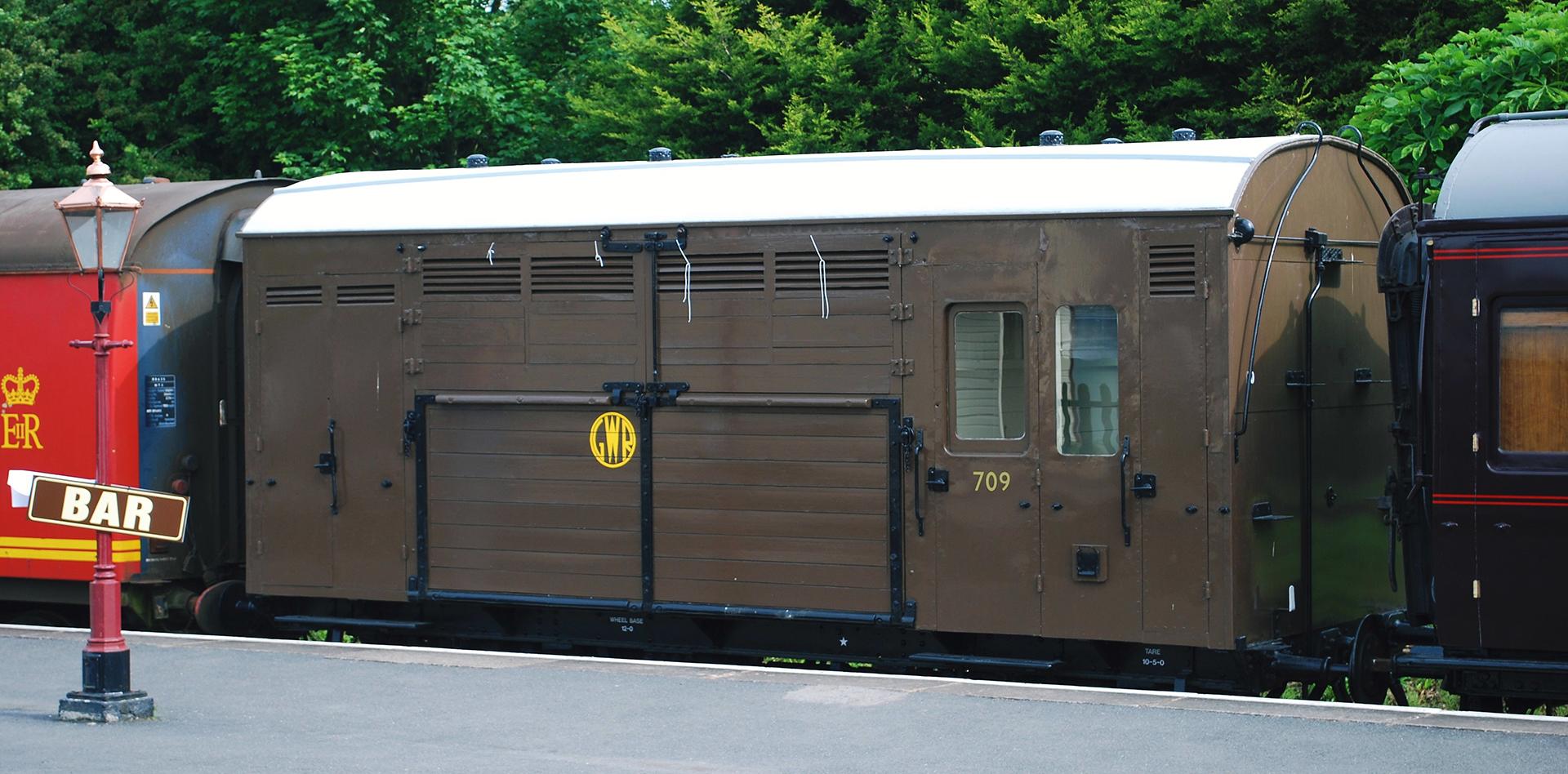 GWR Diagram N16 Horsebox No. 709 at the Winchcombe, Gloucestershire & Warwickshire Railway in June 2010. © Hugh Llewelyn