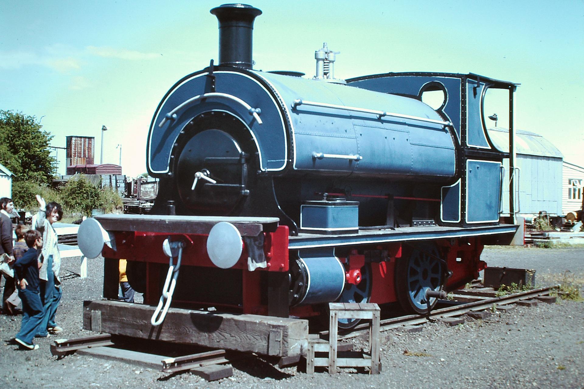 "No. 3 ""Bear"" at the Sittingbourne & Kemsley Light Railway in February 1976. © Hugh Llewelyn"