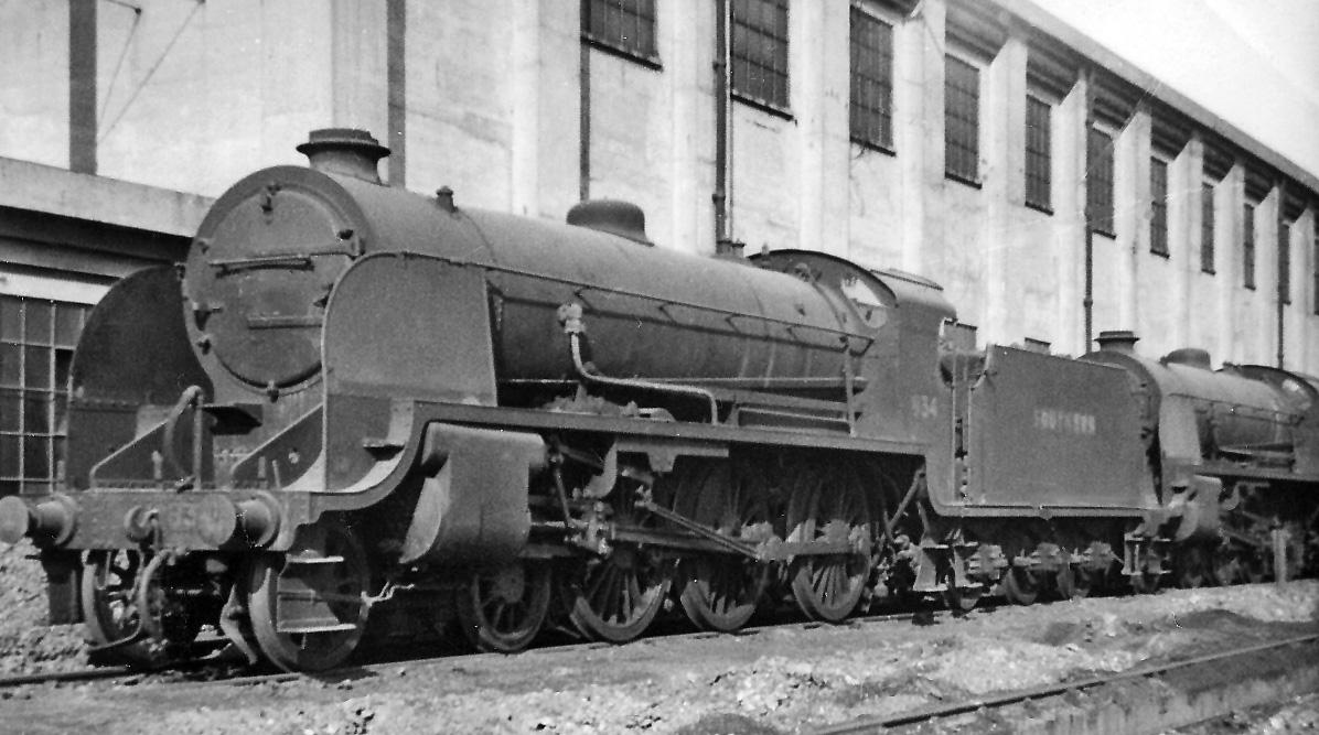 No. 834 at Feltham Locomotive Depot in September 1947. © Ben Brooksbank
