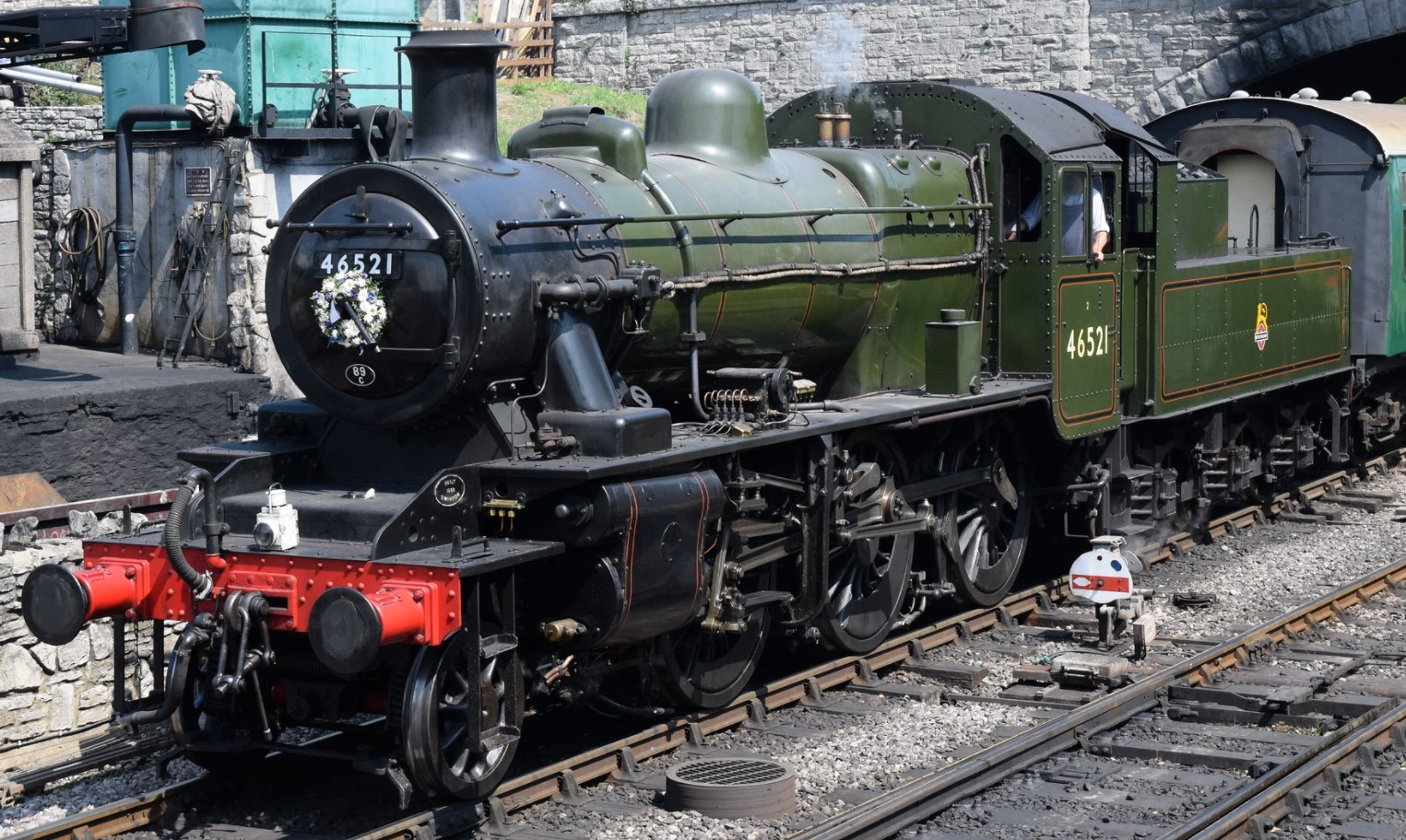 46521 at Swanage in August 2019. ©Hugh Llewelyn