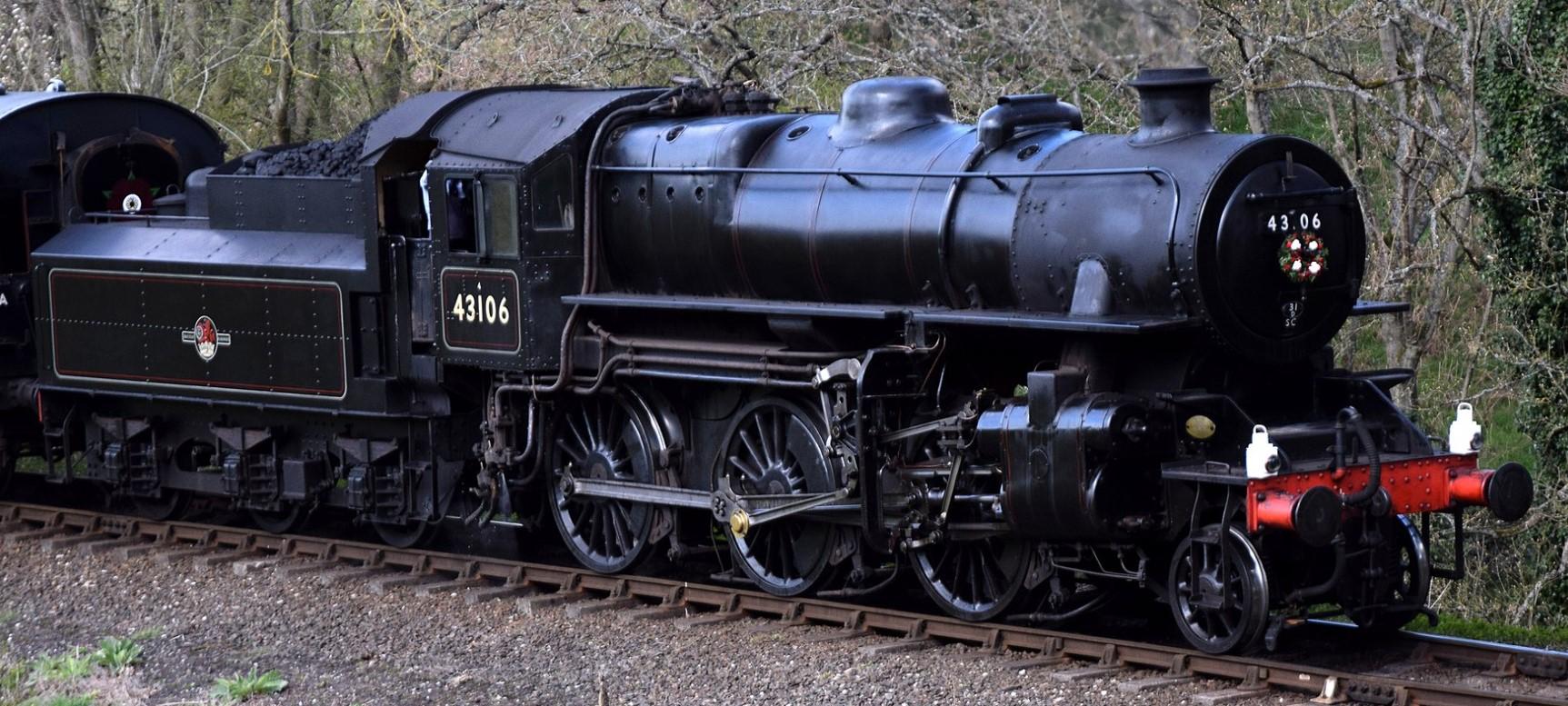 43106 on the Severn Valley Railway in April 2021. ©Hugh Llewelyn